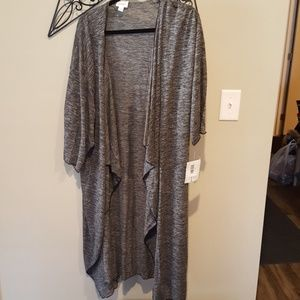 Large, grey sweater material Shirley cover up